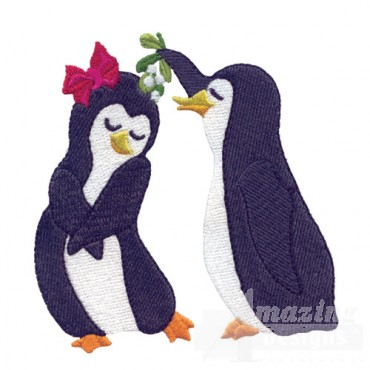 Penguin With Mistletoe