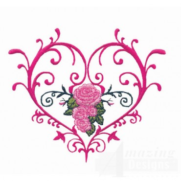 Scroll And Flower Heart