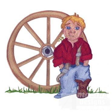 Cowboy And Wheel