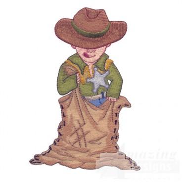 Cowboy In Sack