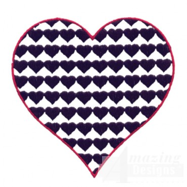 3 Inch Heart Fill Stitch