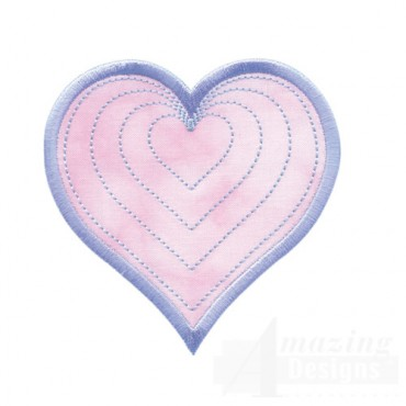 Radiating Heart Quilted Center 2
