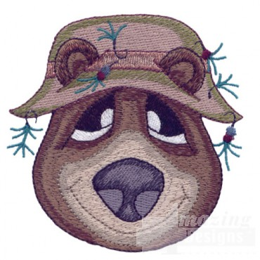 Bear With Fishing Hat