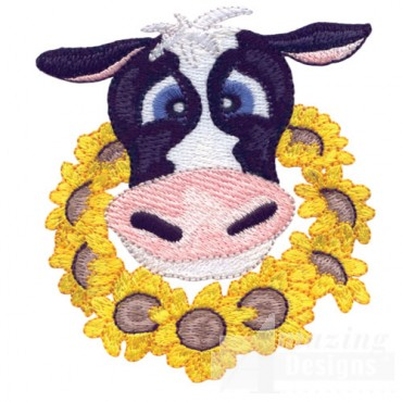 Cow With Garland