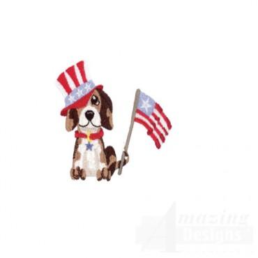 Patriotic Dog