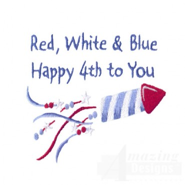 Red White And Blue Rocket