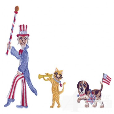 Parade Uncle Sam Cat And Dog