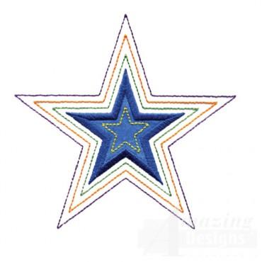2 Inch Echo Quilt Star