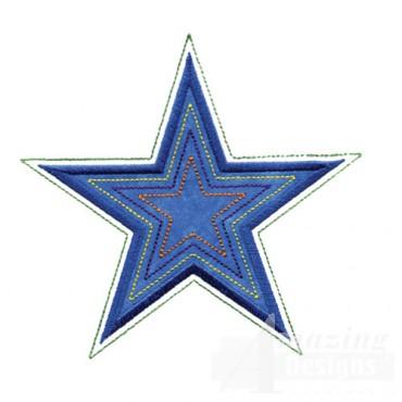 4 Inch Echo Quilt Star