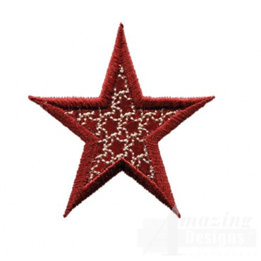 2 Inch Outline Star Pattern
