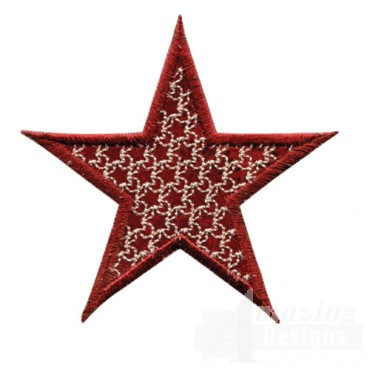 3 Inch Outline Star Pattern