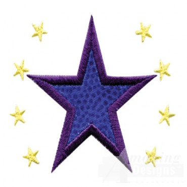 2 Inch Sprinkle Filled Stars