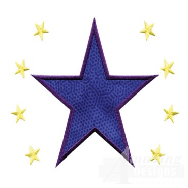 4 Inch Sprinkle Filled Stars