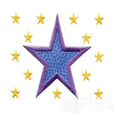 2 Inch Sprinkle Filled Stars 2