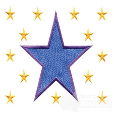 4 Inch Sprinkle Filled Stars 2