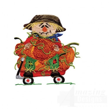Scarecrow With Wagon