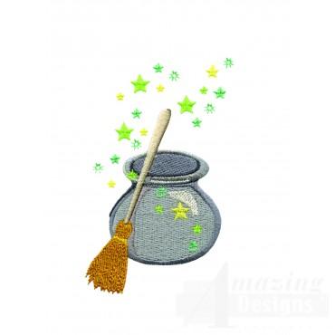 Broom And Cauldron
