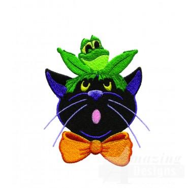 Frog On Cat Head