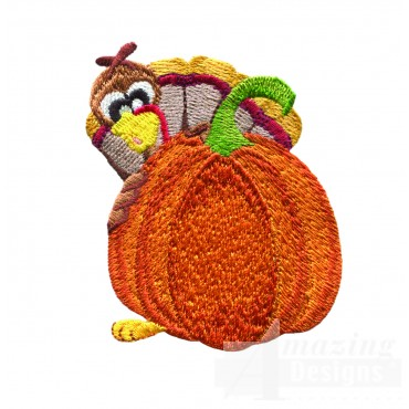 Turkey By Pumpkin