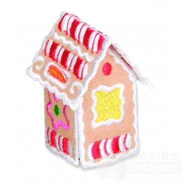Gingerbread Doghouse Embroidery Design