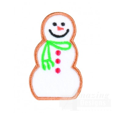 Gingerbread Snowman Embroidery Design