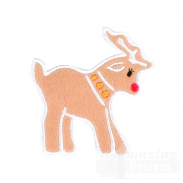 Gingerbread Reindeer Embroidery Design