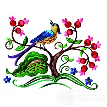 A Birds Paradise Jf323 Embroidery Design