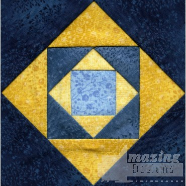 Square On Square Quilt Block Embroidery Design