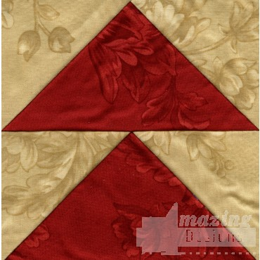 Flying Geese Quilt Block Embroidery Design