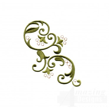 Bsb119 Baroque Swirl 19 Embroidery Design
