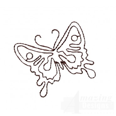 Bsb129 Baroque Butterfly 2 Embroidery Design