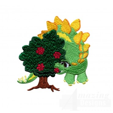 Hungry Stegosaurus Embroidery Design