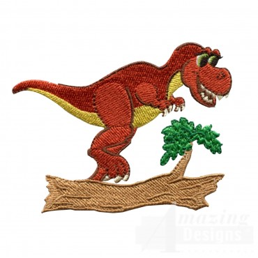 Running Tyrannosaurus Rex Embroidery Design