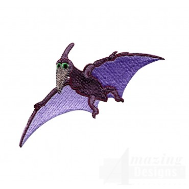 Flying Pterodactyl Embroidery Design