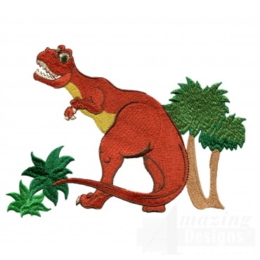 Smiling Tyrannosaurus Rex Embroidery Design