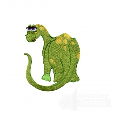 Bashful Brontosaurus Embroidery Design