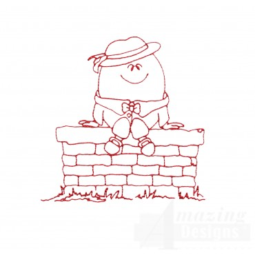 Humpty Dumpty Embroidery Design