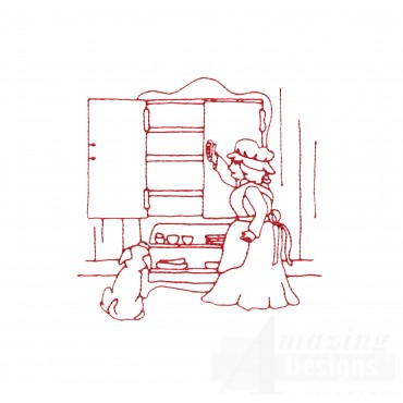 Old Mother Hubbard Embroidery Design