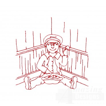 Little Jack Horner Embroidery Design