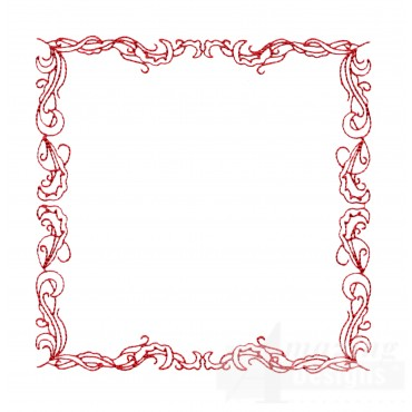 Redwork Frame Embroidery Design