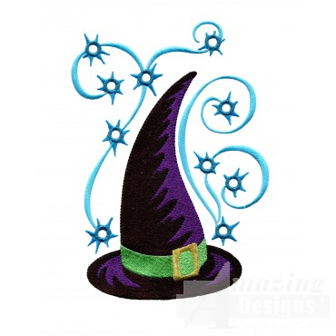 Witches Hat Embroidery Design