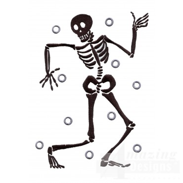 Spooky Skeleton Embroidery Design