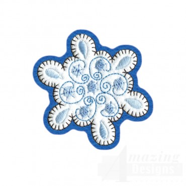 Snowflake Brooch Embroidery Design