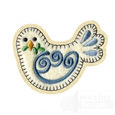 Dove Brooch Embroidery Design