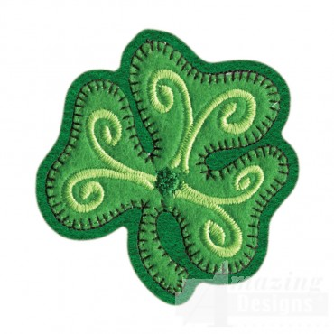 Clover Brooch Embroidery Design