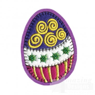 Easter Egg Brooch Embroidery Design