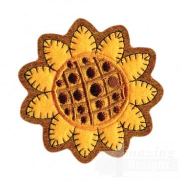 Sunflower Brooch Embroidery Design