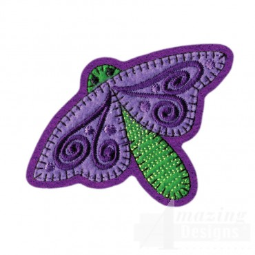 Dragonfly Brooch Embroidery Design