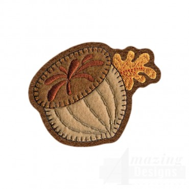 Acorn Brooch Embroidery Design