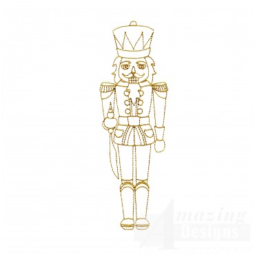 Linework Nutcracker Embroidery Design